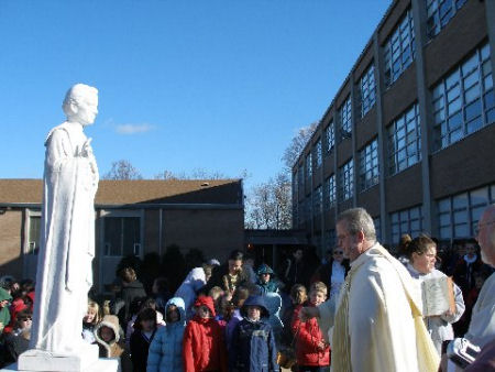 The rededication of our St. John Neumann statue on November 23, 2005